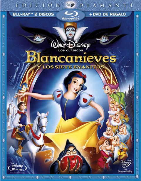 Carátula Blancanieves Colección Diamante Blu-ray