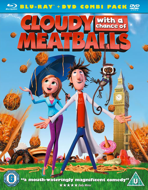 Carátula Blu-ray Lluvia de albóndigas