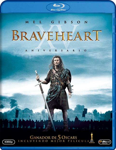 Carátula Braveheart Blu-ray