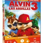 Alvin y las Ardillas 3 en Blu-ray: Carátula y material adicional confirmado