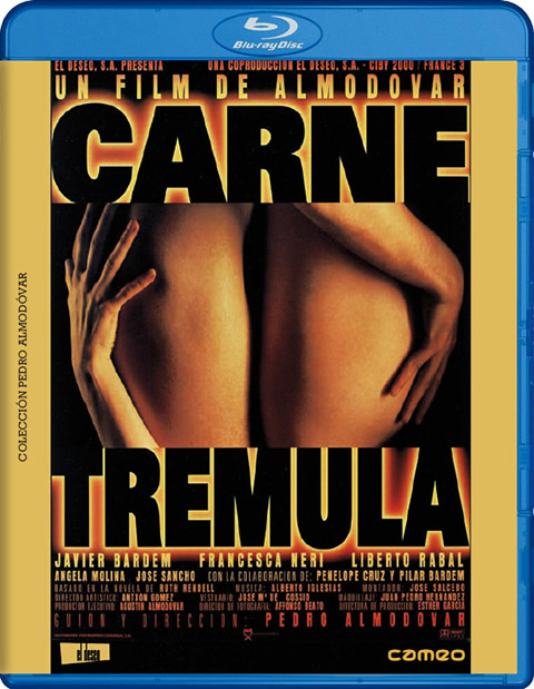 Carátula Carne trémula Blu-ray