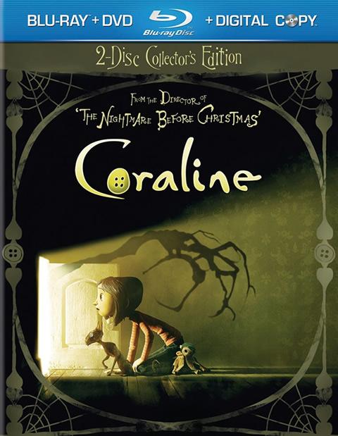 Carátula Coraline Blu-ray