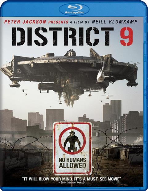 Carátula District 9 Blu-ray USA