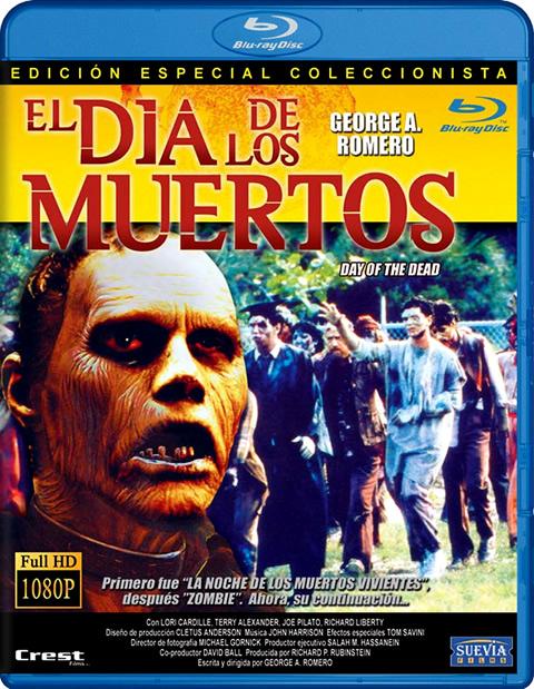 Carátula El día de los muertos vivientes Blu-ray