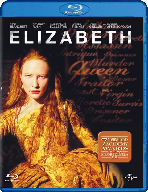 Carátula Elizabeth Blu-ray