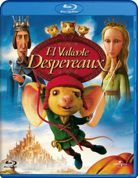 Carátula El valiente Despereaux Blu-Ray