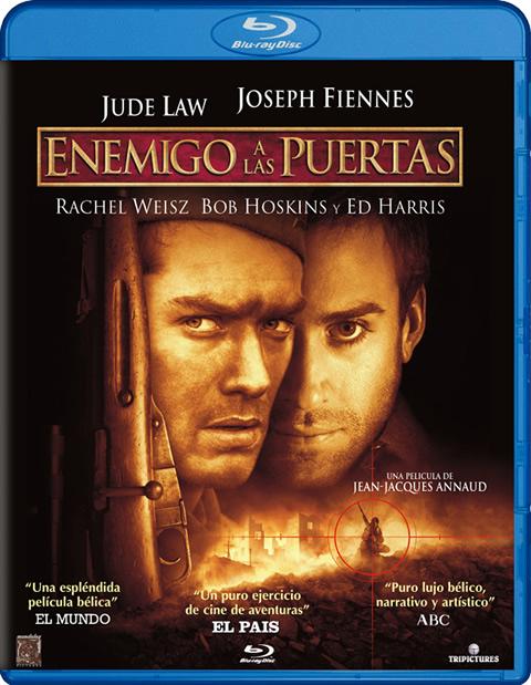 Carátula Enemigo a las puertas Blu-ray