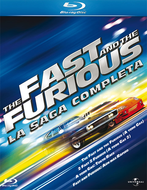 The Fast and the Furious saga Blu-ray