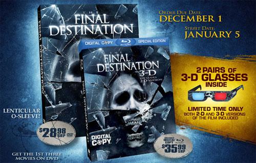 Carátula Destino final 3D Blu-ray