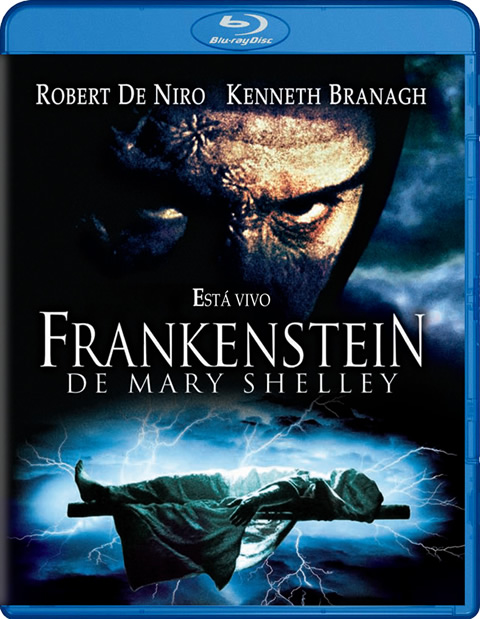 Carátula Frankenstein de Mary Shelley Blu-ray
