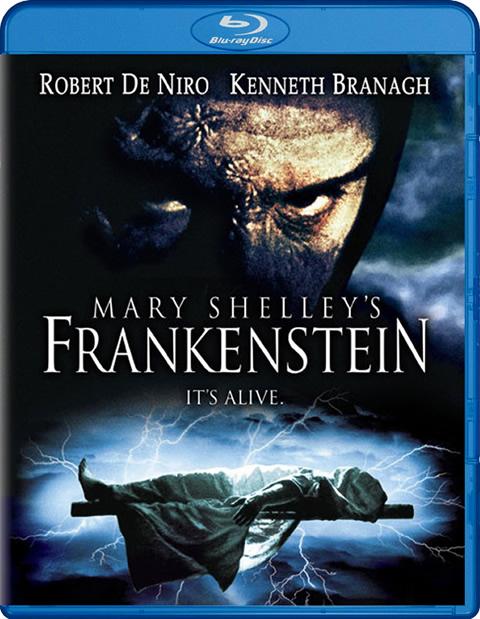 Carátula Frankenstein de Mary Shelley Blu-ray