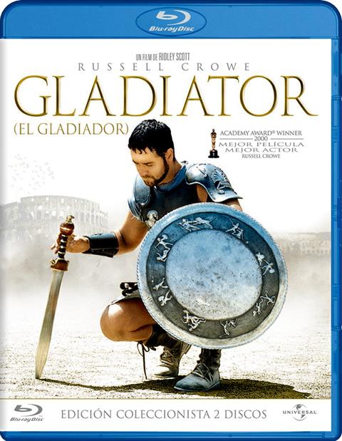 Carátula Gladiator coleccionista Blu-ray