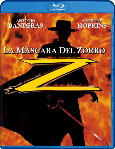 Carátula La máscara del zorro Blu-ray