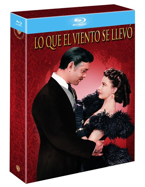 Aspecto de la caja de Lo que el viento se llevó Blu-ray