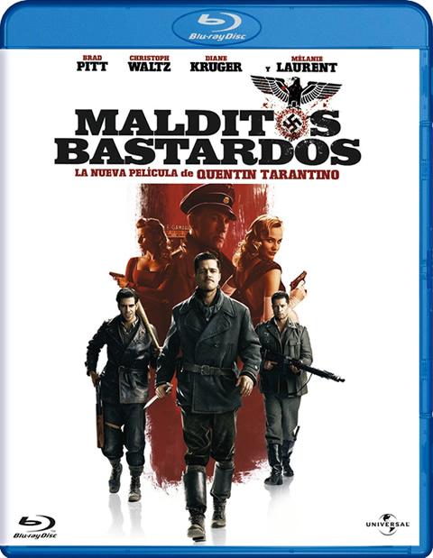 Carátula Malditos bastardos Blu-ray