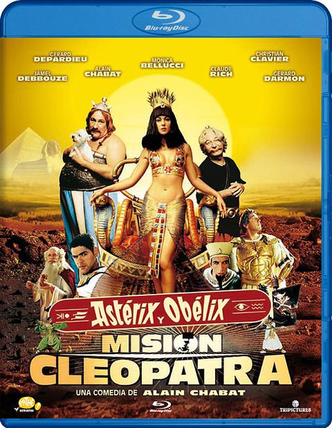 Carátula Astérix y Obélix Misión Cleopatra Blu-ray