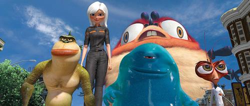 Carátula Monstruos contra alienígenas Blu-ray