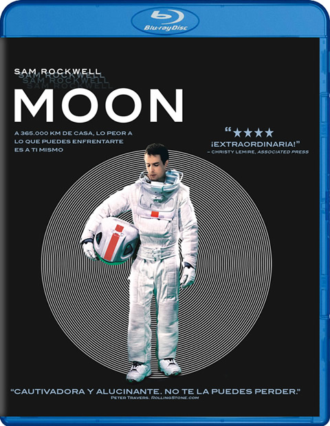 Carátula Moon Blu-ray