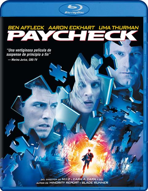 Carátula Paycheck Blu-ray