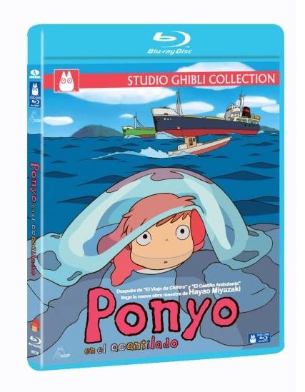 Carátula Ponyo en el acantilado Blu-Ray