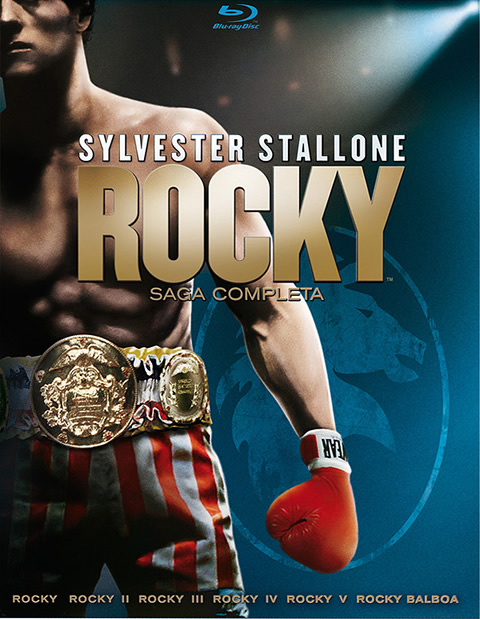 Carátula Saga Completa Rocky Blu-Ray