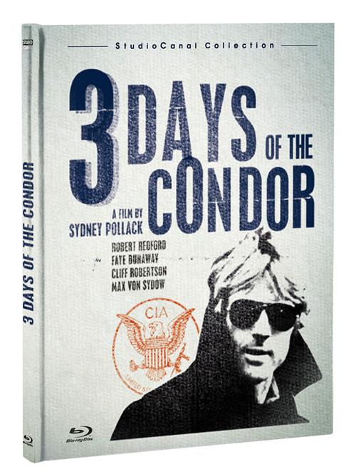 Carátula Los 3 días del cóndor Blu-ray