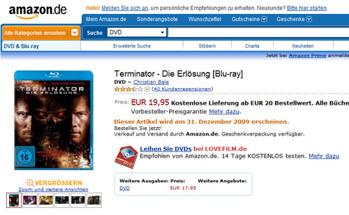Carátula Terminator Salvation Blu-ray