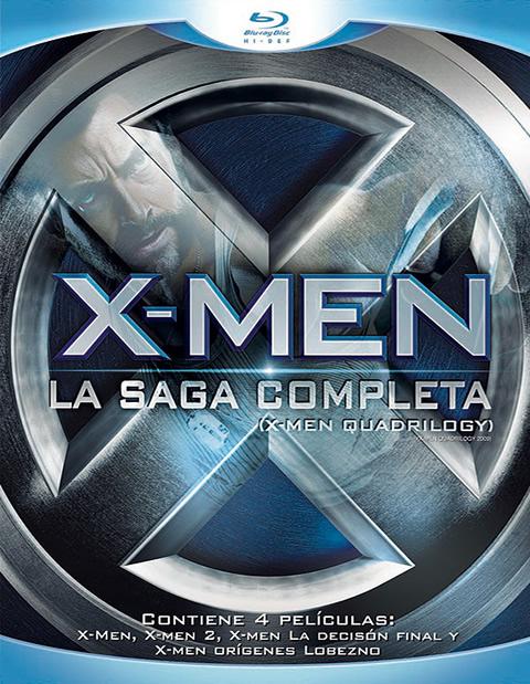 Carátula X-Men Cuadrilogia Blu-ray